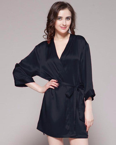 accd01386502 Black - 100% Polyester Satin Gown - GWN 11 BK - Ladies Gown - diKHAWA