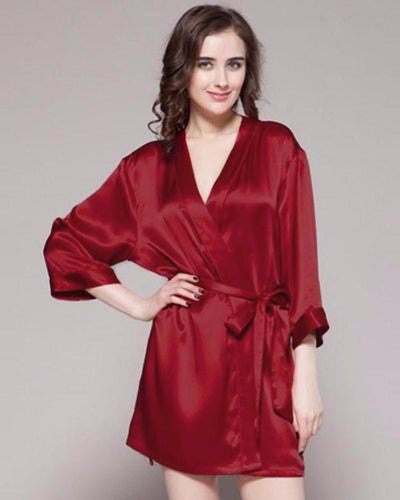 Dark Red - 100% Polyester Satin Gown - GWN 11 DR