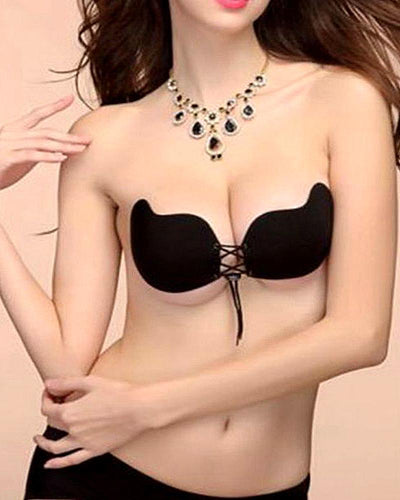 Silicone Secret Magic Bra - Black