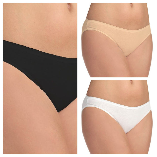 Pack of 3 Hanky Panky Panty - Skin - White - Black - Panty - diKHAWA Online Shopping in Pakistan