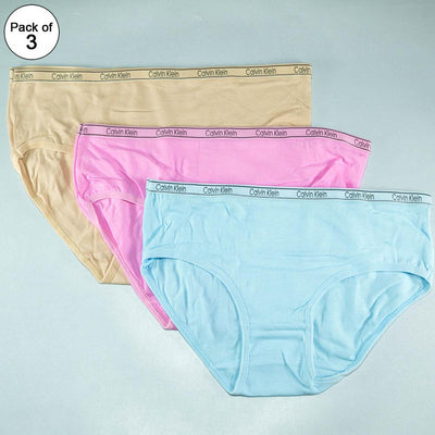 Pack of 3 - CK Plain Panty - Flourish CK Plain Panty Mix Colors - 777, 888, 999