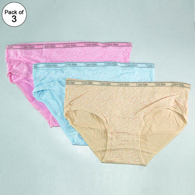 Pack of 3 Ck Printed Panty - Soft Cotton Stretchable Jersey Panty