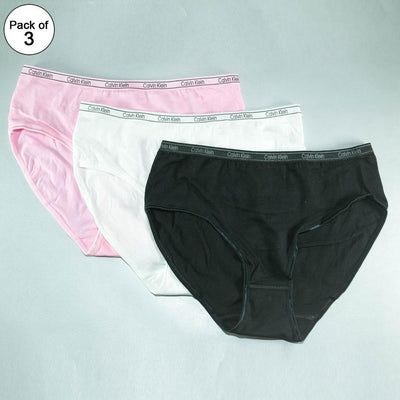 Pack of 3 - CK Plain Panty - Flourish Mix Colors CK Plain Panty - 444, 555