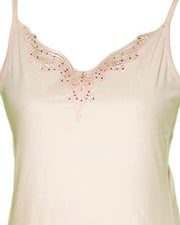 Embroidered Camisole For Women - Adjustable Straps - Color Pink - 2814
