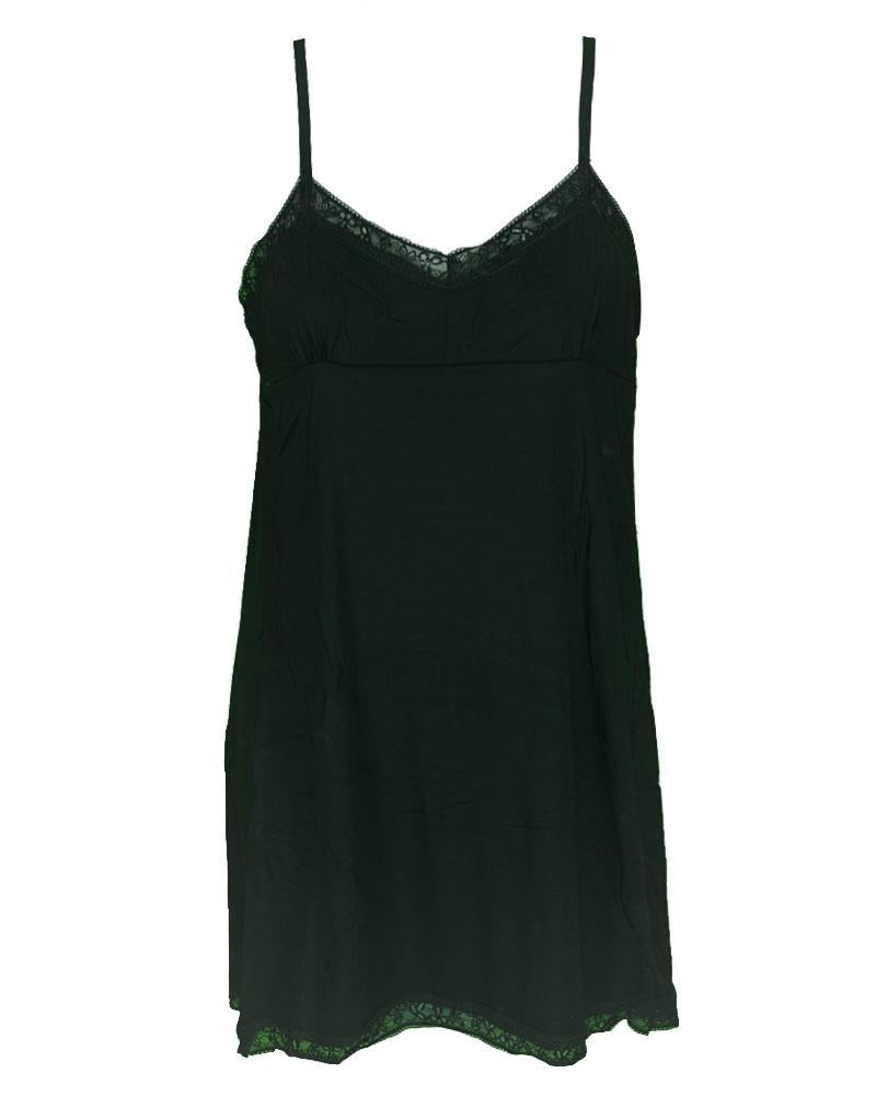 f967510166 Premium Camisole Stretch Basic With Padded Lace - Long Layering Camisole -  Adjustable Straps - Black ...