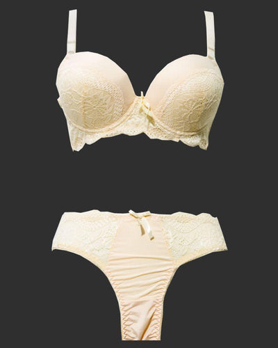 Bridal Pushup Plus Size Bra Panty Sets - Single Padded Underwired Bra Panty Sets - BS1002