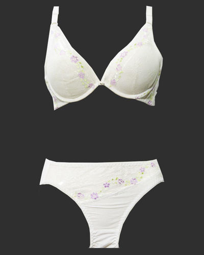 Bridal Bra Panty Sets - Zero Size - Single Padded Underwired Bra Panty Sets - BS3003 - Bra Panty Sets - diKHAWA Online Shopping in Pakistan
