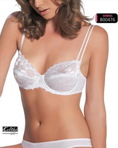Royal Designed Net Bra , Non Padded - Under Wired Bra - By Kelitha (Italian Brand)