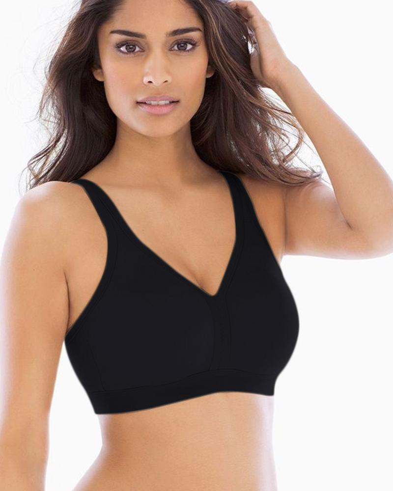 Black Soft Net Flourish Bra - Single Padded Non Wired Bra - FL931