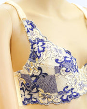 Fancy Embroidered Bra, Non Padded - Underwired Bra - Taiwan Bra - 8108
