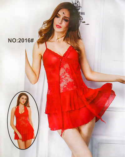 Sexy Cotton Net Short Nighty For Women - 2016#