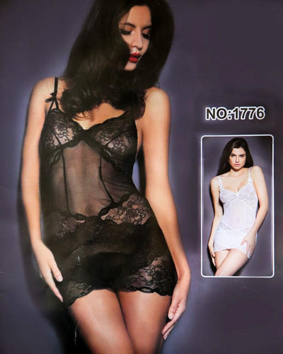Romantic Sexy Net Short Nighty For Women - 1776