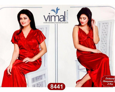 Buy 2 Pcs Silk Nighty Set with Gown - 8441 - Satin Silk Nighty by Vimal Fashion Online in Karachi, Lahore, Islamabad, Pakistan, Rs.1800.00, Ladies Nighty Sets Online Shopping in Pakistan, Vimal Fashion, best Nightwear Brands in pakistan, best Nighty Brands in pakistan, Brand_Vimal Fashion, Branded Nightwear, branded nighty, Bridal Nighty, Clothing, Honeymoon Nighty, imported nighty, Ladies Nightwear, ladies Nightwear pakistan, Ladies Nighty, ladies undergarment pakistan, Lingerie & Nightwear, long nighty, Material_Satin, Material_Silk, Nightwear, Nightwear Online Shopping, Nightwear online shopping in pakistan, Nightwear pakistan, Nightwear shop, Nightwear.com, Nightwear.com.pk, Nightwear.pk, n, Online Shopping in Pakistan - NIGHTYnight