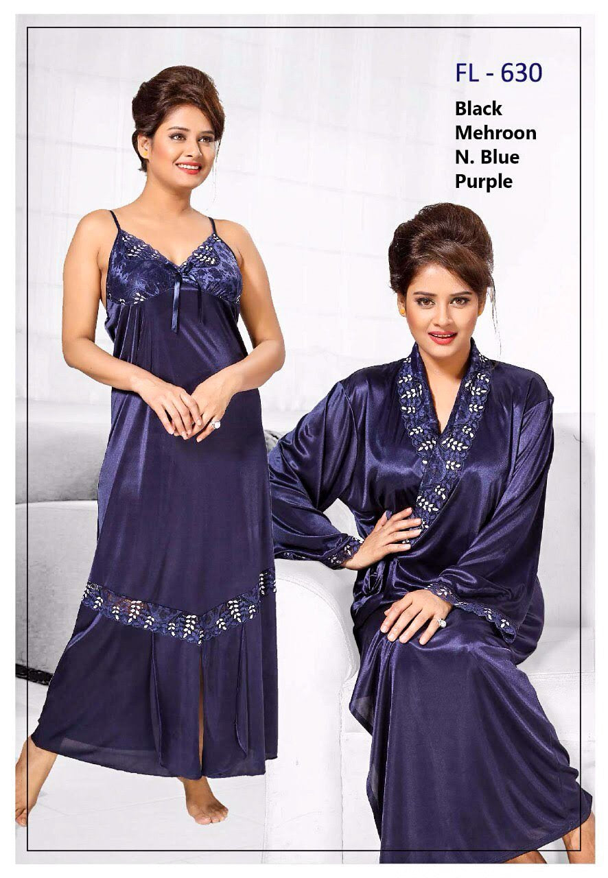 2 Pcs FL-630 - Flourish Exclusive Bridal Nighty Set Collection