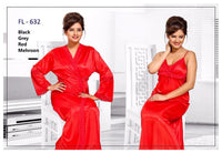2 Pcs FL-632 - Flourish Exclusive Bridal Nighty Set Collection