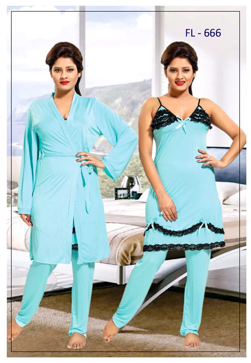 Stylish FL-666 - Flourish Exclusive Bridal Nighty Set Collection