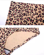 Stylish Bridal Cheetah Bra Panty Sets - Single Padded Non Wired - Brown & White