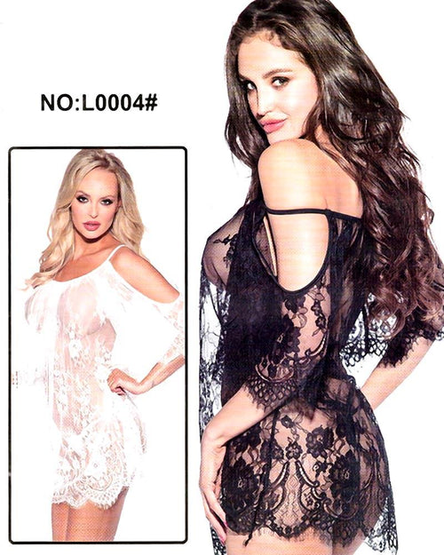 Bridal Sexy Transparent Short Lace Nighty - L0004