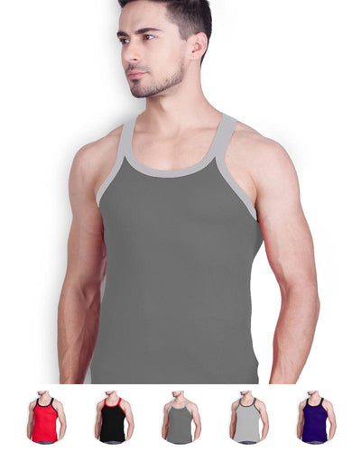 LUX - GenX Gym Vest - 5501 - Mens Sleeveless Gym Vest - Dark Grey