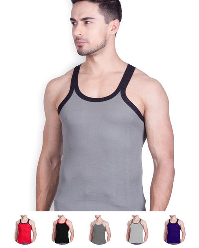 LUX - GenX Gym Vest - 5501 - Mens Sleeveless Gym Vest - Light Grey