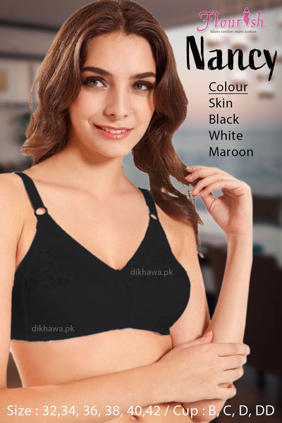 Nancy Bra - Flourish - Non Padded & Non Wired Bra - Minimizer Bra