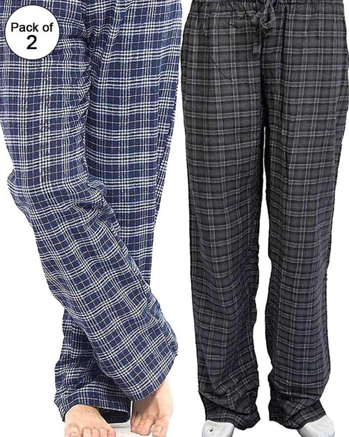 Buy Pack of 2 - Men's Cotton Check Pajama - Cotton Yarn Dyed Flannel Men's Pajama MF-13 Online in Karachi, Lahore, Islamabad, Pakistan, Rs.{{amount_no_decimals}}, Mens Pajamas Online Shopping in Pakistan, Noor Fabrics, cf-size-large, cf-size-medium, cf-type-mens-pajamas, cf-vendor-noor-fabrics, Clothing, Deals, Men, Mens Innerwear & Nightwear, Mens Nightwear & Undergarments, Nightwear, Pajamas, Size = Large, Size = Medium, Online Shopping in Pakistan - NIGHTYnight