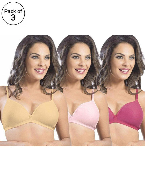 895122d0f8725 Pack of 3 - Sonari Omania Bra - Non Padded Non Wired - Imported Bra -