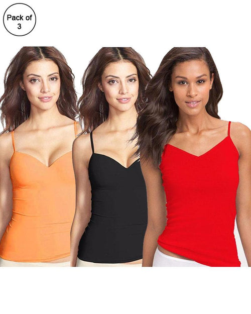 Buy Pack of 3 Fancy Colourful Camisole for Girls - Mix Colours Online in Karachi, Lahore, Islamabad, Pakistan, Rs.{{amount_no_decimals}}, Ladies Camisole Online Shopping in Pakistan, Lady Zone, Camisole, cf-type-ladies-camisole, cf-vendor-lady-zone, Clothing, Clothings, Lingerie & Nightwear, Nightwear, Size = Free, Women, Online Shopping in Pakistan - NIGHTYnight