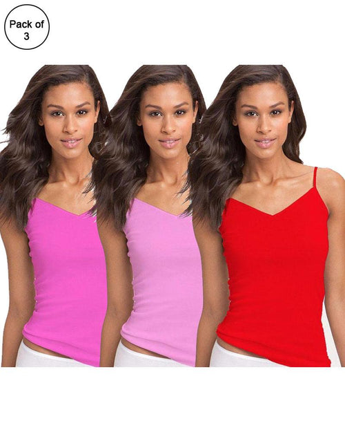 Buy Pack of 3 Fancy Colourful Camisole for Girls - Mix Colours Online in Karachi, Lahore, Islamabad, Pakistan, Rs.{{amount_no_decimals}}, Ladies Camisole Online Shopping in Pakistan, Lady Zone, Camisole, cf-type-ladies-camisole, cf-vendor-lady-zone, Clothing, Clothings, Lingerie & Nightwear, Nightwear, Women, Online Shopping in Pakistan - NIGHTYnight