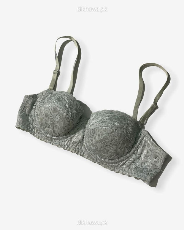 Imported Stocklot Branded  Net Pushup Bra - Underwired Bra  Non Padded Bra - Pack of 2