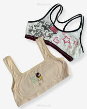 Non Padded Ladies Jogging Bra - Sports Bra - Soft Padded Imported Stocklot Branded Pushup Bra - Single Padded Bra - Pack of 2