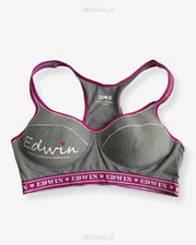 Low Impact Cotton Non-Padded Non-Wired Sports Bra in Ladies Jogging Bra Imported Stocklot Branded Pushup Bra