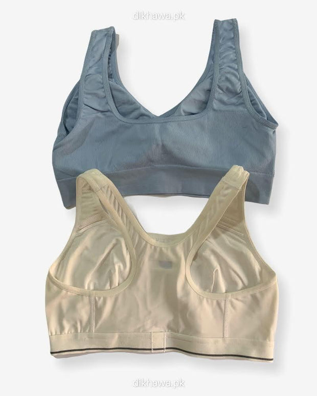 Aire Bra Stretchable Non Wired & Single Padded  Ladies Jogging Bra Imported Stocklot Branded Sports Bra
