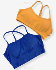 Pack Of 2 - Girls, Women Sports Non Padded Bra Ladies Jogging Bra Imported Stocklot Branded Sports Bra