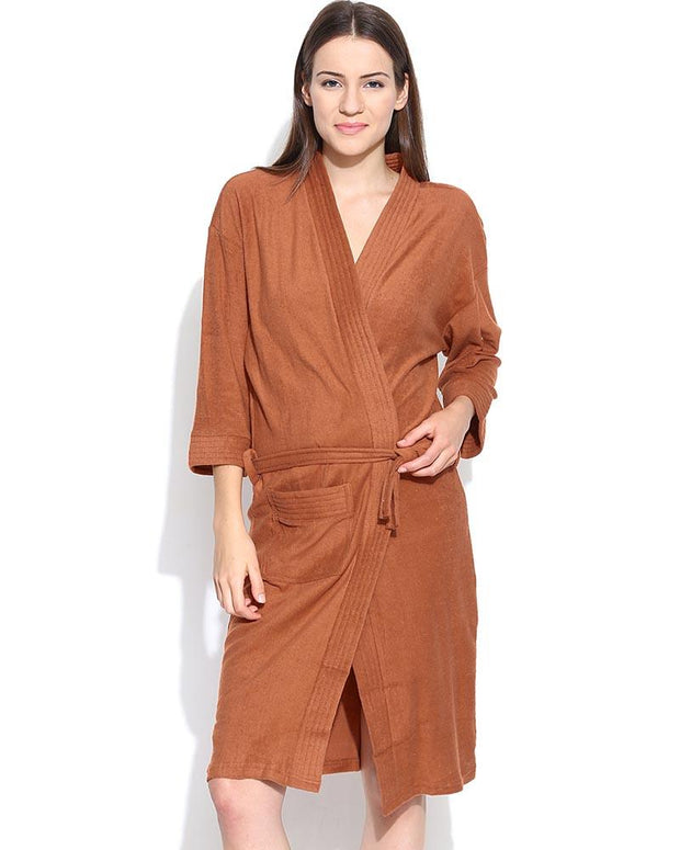 4c94f35660 Ladies Bathrobe Soft Cotton - Brown – Online Shopping in Pakistan ...