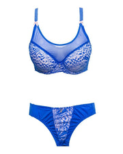 Bridal Skin & Blue L801601 Single Padded Bra Panty Set - By Senselle