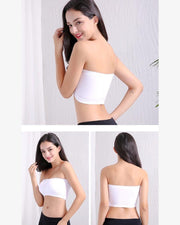 Pack of 2 - Sexy Tube Padded Top Bandeau Stretchable Strapless Bra