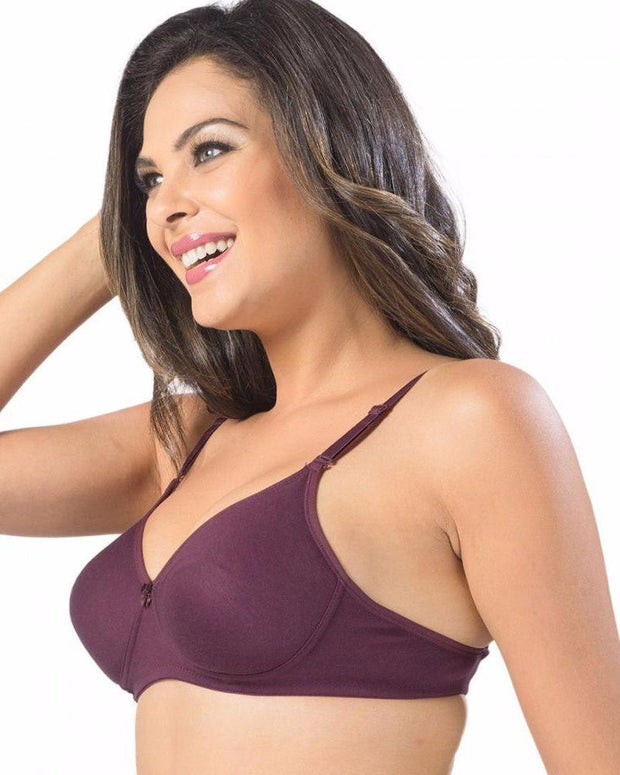 Sonari Catwalk Bra - Magenta - Non Padded Non Wired - Imported Bra - Bras - diKHAWA Online Shopping in Pakistan