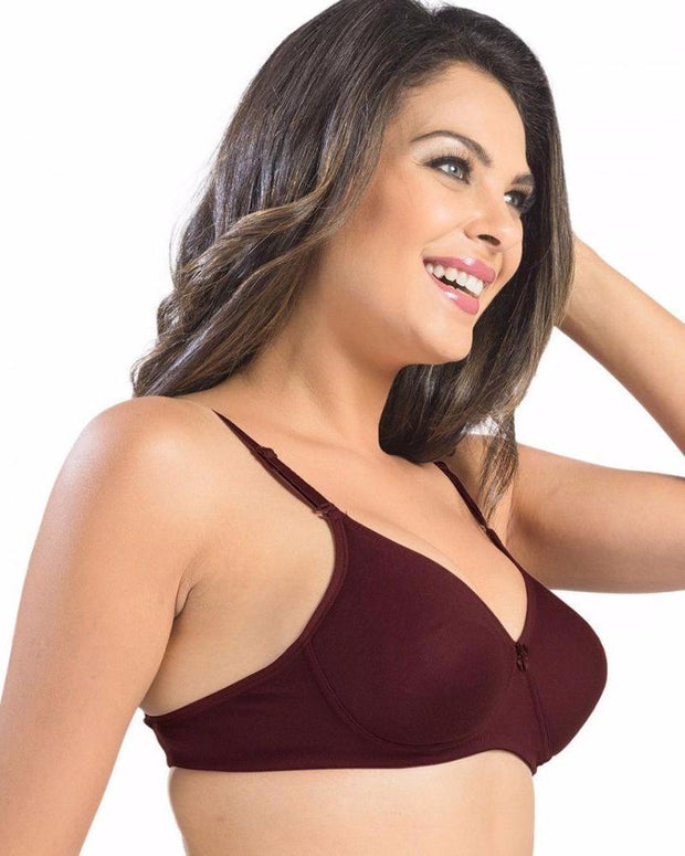 Sonari Catwalk Bra - Maroon - Non Padded Non Wired - Imported Bra - Bras - diKHAWA Online Shopping in Pakistan