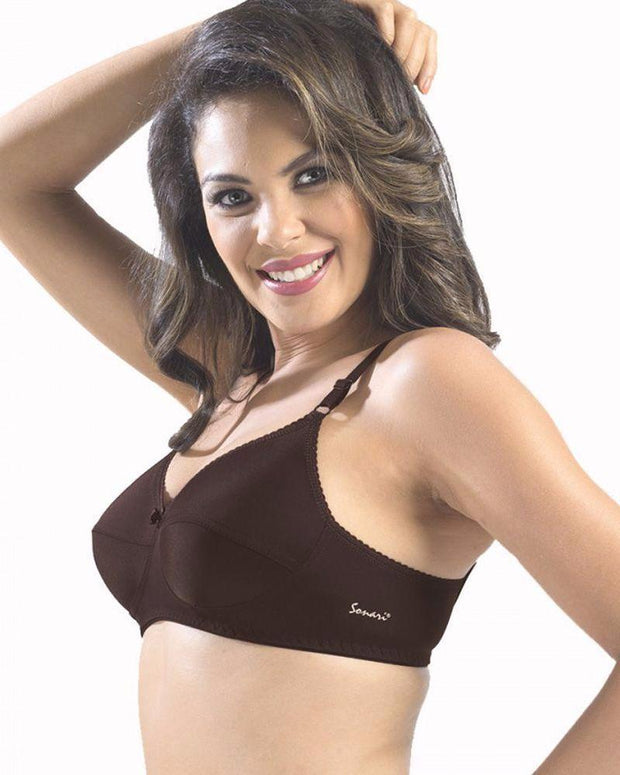 Sonari Loreal Bra - Coffee - Non Padded Non Wired - Imported Bra - Bras - diKHAWA Online Shopping in Pakistan