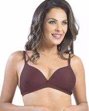 Sonari Omania Bra - Maroon - Non Padded Non Wired - Imported Bra - Bras - diKHAWA Online Shopping in Pakistan