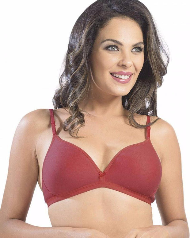 Sonari Omania Bra - Red - Non Padded Non Wired - Imported Bra - Bras - diKHAWA Online Shopping in Pakistan