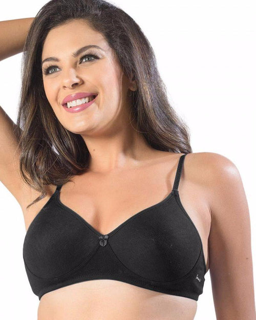 Sonari Smile Bra - Black - Non Padded Non Wired - Imported Bra - Bras - diKHAWA Online Shopping in Pakistan