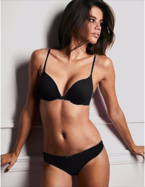 Victoria's Secret - Black Single Padded Bra And Panty Set - Bra Panty Sets - diKHAWA Online Shopping in Pakistan