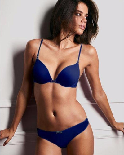 Victoria's Secret – Blue Single Padded Bra And Panty Set - Bra Panty Sets - diKHAWA Online Shopping in Pakistan