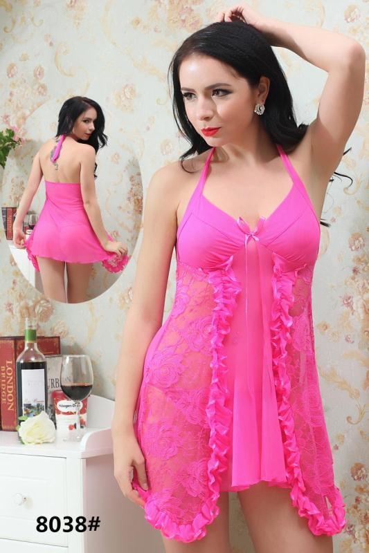 Rita Short Romantic  Nighty For Women - 8038