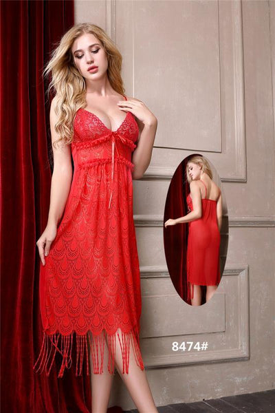Divine Paridhaan Short Romantic  Nighty For Women - 8474