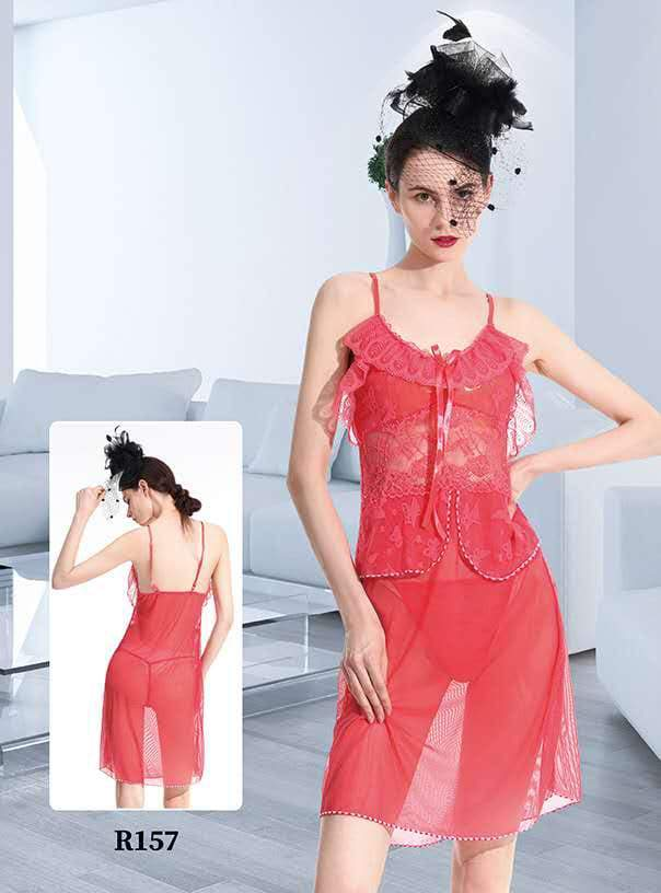 Romaisa Short Romantic  Nighty For Women - R157