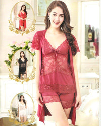 Buy 3 Pcs Sexy Short Nighty - 6511 Online in Karachi, Lahore, Islamabad, Pakistan, Rs.{{amount_no_decimals}}, Ladies Nighty Sets Online Shopping in Pakistan, Nighty Shop, best Nightwear Brands in pakistan, best Nighty Brands in pakistan, Branded Nightwear, branded nighty, Bridal Nighty, cf-color-pink, cf-color-purple, cf-size-free-size, cf-type-ladies-nighty-sets, cf-vendor-nighty-shop, Clothing, fancy nighty, Honeymoon Nighty, imported nighty, Lace Nighty, Ladies Nightwear, ladies Nightwear pakistan, Ladies Nighty, ladies undergarment pakistan, Lingerie & Nightwear, net nighty, Nightwear, Nightwear Online Shopping, Nightwear online shopping in pakistan, Nightwea, Online Shopping in Pakistan - NIGHTYnight