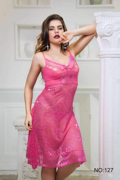 Wedding Sexy Cotton Net Short Nighty For Women - 2020
